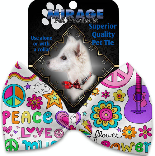 Hippy Love Pet Bow Tie Collar Accessory With Velcro-Bow Ties-Bella's PetStor