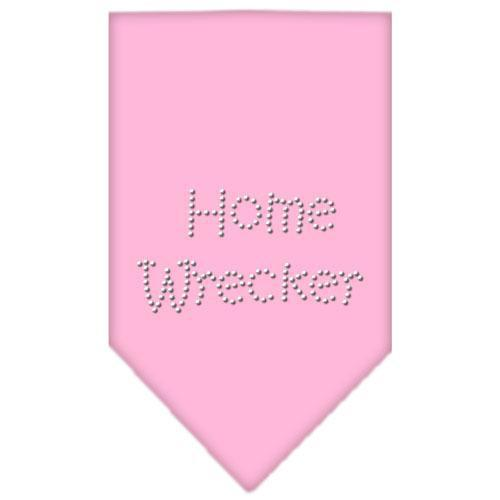 Home Wrecker Rhinestone Bandana Light Pink Large-Home wrecker rhinestone bandana-Bella's PetStor