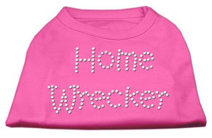 Home Wrecker Rhinestone Shirts Bright Pink-Dog Clothing-Bella's PetStor