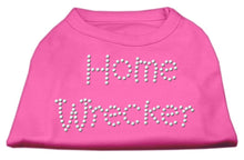 Load image into Gallery viewer, Home Wrecker Rhinestone Shirts Bright Pink-Dog Clothing-Bella's PetStor