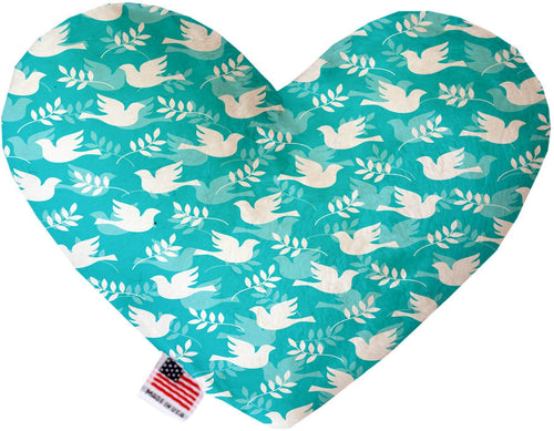 Hope And Peace Inch Canvas Heart Dog Toy-Made in the USA-Bella's PetStor