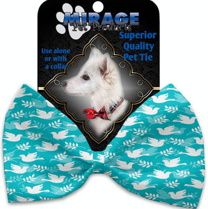 Hope And Peace Pet Bow Tie Collar Accessory With Velcro-Bow Ties-Bella's PetStor