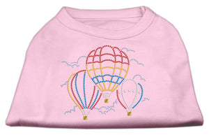 Hot Air Balloon Rhinestone Shirts Light Pink-Dog Clothing-Bella's PetStor