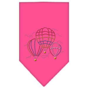 Hot Air Balloons Rhinestone Bandana Bright Pink Small-Hot air ballons rhinestone bandana-Bella's PetStor