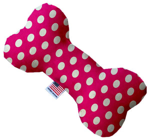 Hot Pink Swiss Dots Inch Bone Dog Toy-Christmas, Hannakuh-Bella's PetStor