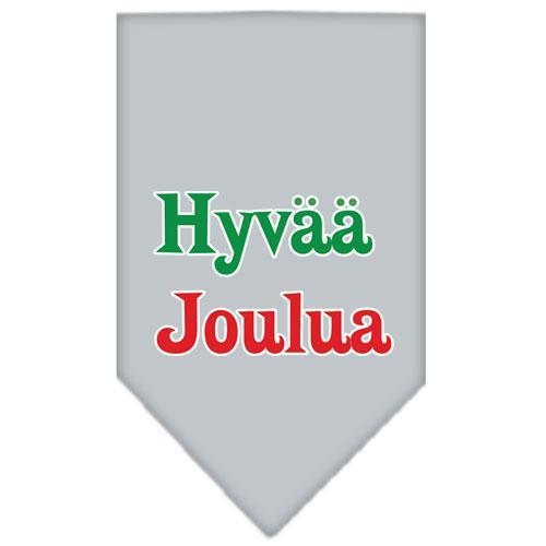 Hyvaa Joulua Screen Print Bandana-Dog Clothing-Bella's PetStor