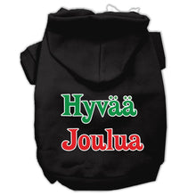 Load image into Gallery viewer, Hyvaa Joulua Screen Print Pet Hoodies-Dog Clothing-Bella's PetStor