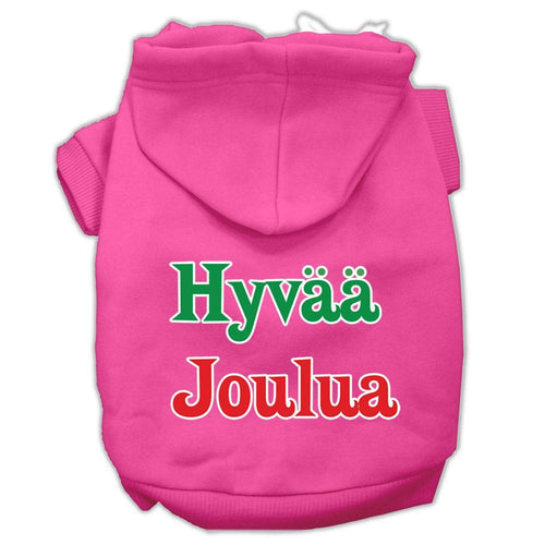 Hyvaa Joulua Screen Print Pet Hoodies-Dog Clothing-Bella's PetStor