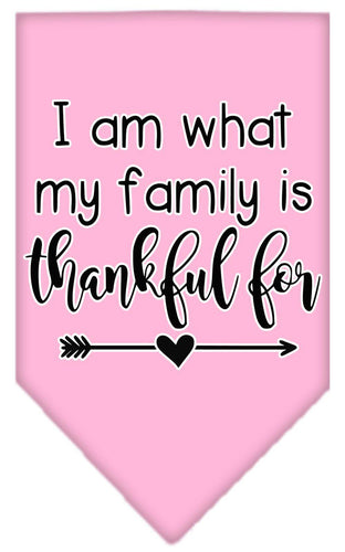 I Am What My Family Is Thankful For Screen Print Bandana-Thanksgiving-Bella's PetStor