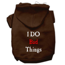 Load image into Gallery viewer, I Do Bad Things Screen Print Pet Hoodies-Dog Clothing-Bella's PetStor
