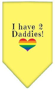 I Have 2 Daddies Screen Print Bandana-Bandanas-Bella's PetStor