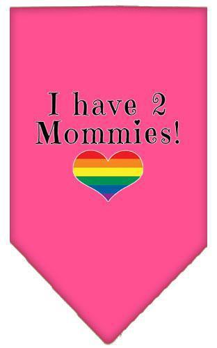 I Have 2 Mommies Screen Print Bandana-Bandanas-Bella's PetStor
