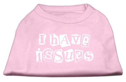 I Have Issues Screen Printed Dog Shirt Light Pink-Dog Shirts-Bella's PetStor