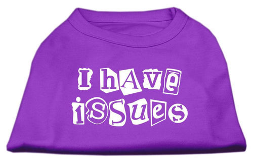 I Have Issues Screen Printed Dog Shirt Purple-Dog Shirts-Bella's PetStor