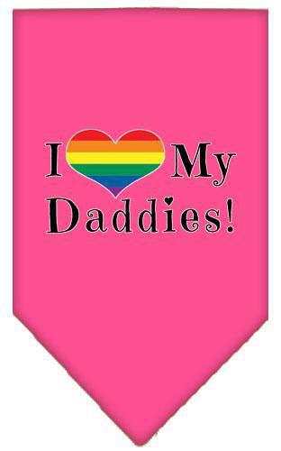 I Heart My Daddies Screen Print Bandana-Bandanas-Bella's PetStor