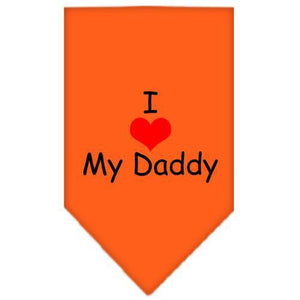 I Heart My Daddy Screen Print Bandana-Bandanas-Bella's PetStor