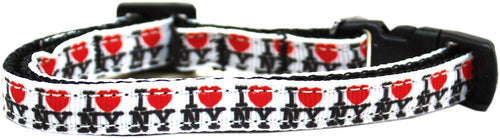 I Heart Ny Ribbon Cat Safety Collar-Dog Collars-Bella's PetStor