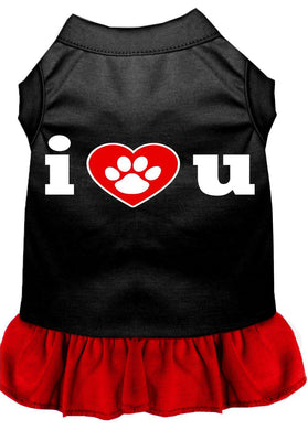 I Heart You Dresses Black With-Dog Clothing-Bella's PetStor