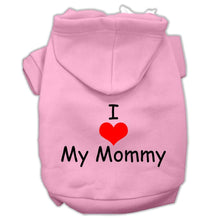 Load image into Gallery viewer, I Love My Mommy Screen Print Pet Hoodies Size-Dog Clothing-Bella's PetStor