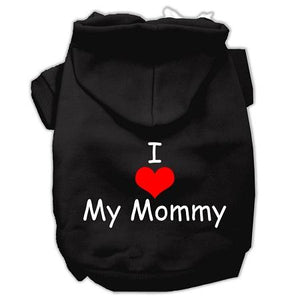 I Love My Mommy Screen Print Pet Hoodies Size-Dog Clothing-Bella's PetStor