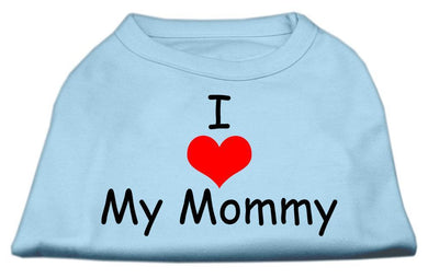 I Love My Mommy Screen Print Shirts-Dog Clothing-Bella's PetStor