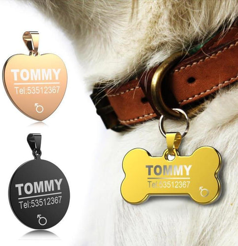 ID Tags, Personalized, Stainless 8-Overseas-Bella's PetStor