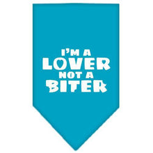 Load image into Gallery viewer, I'm A Lover Not A Biter Screen Print Bandana-Dog Clothing-Bella's PetStor
