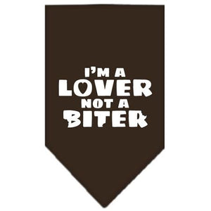 I'm A Lover Not A Biter Screen Print Bandana-Dog Clothing-Bella's PetStor