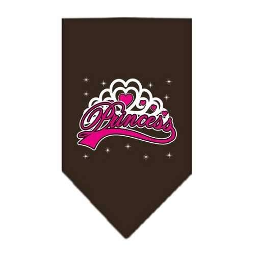 I'm a Princess Screen Print Bandana Cocoa Large-i m a princess screen print bandana-Bella's PetStor