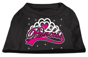 I'm A Princess Screen Print Shirts Black-Dog Clothing-Bella's PetStor