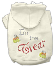 Load image into Gallery viewer, I'm The Treat Rhinestone Hoodies-Dog Clothing-Bella's PetStor