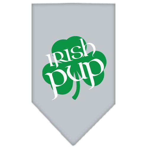 Irish Pup Screen Print Bandana Grey Small-Bandanas-Bella's PetStor