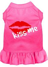 Load image into Gallery viewer, Kiss Me Screen Print Dress Bright Pink-Dog Clothing-Bella's PetStor