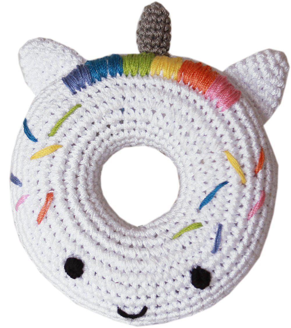 Knit Knacks Unicorn Donut Organic Cotton Small Dog Toy-Christmas, Hannukah-Bella's PetStor