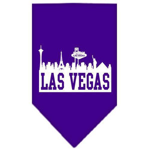 Las Vegas Skyline Screen Print Bandana Purple Large-Las vegas skyline screen print bandana-Bella's PetStor