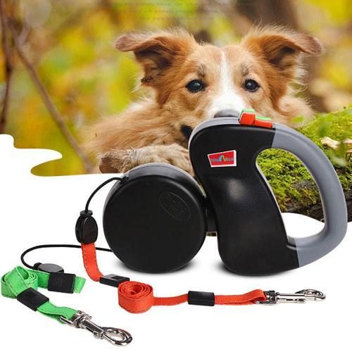 Leashes, Retractable, 2 Dog, non-tangling, 2X3m-Leashes-Bella's PetStor