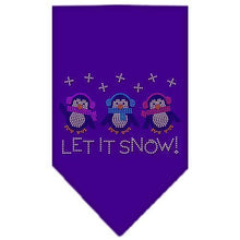 Load image into Gallery viewer, Let It Snow Penguins Rhinestone Bandana-Christmas, Hannakuh-Bella's PetStor