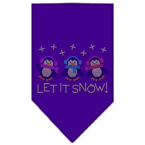 Let It Snow Penguins Rhinestone Bandana-Christmas, Hannakuh-Bella's PetStor