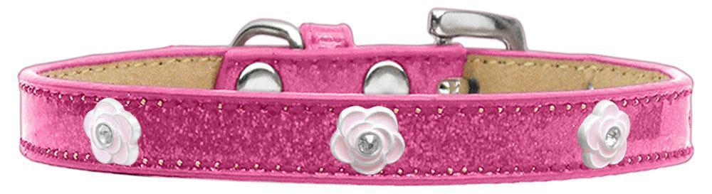 Light Pink Rose Widget Dog Collar Ice Cream Size-New!-Bella's PetStor