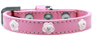 Light Pink Rose Widget Dog Collar Size-New!-Bella's PetStor