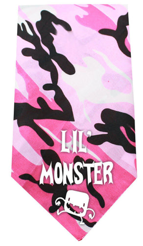 Lil Monster Screen Print Bandana-Dog Clothing-Bella's PetStor
