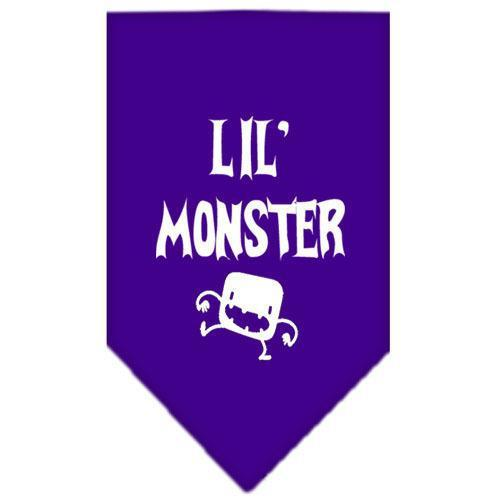 Lil Monster Screen Print Bandana Purple Large-lil monster screen print bandana-Bella's PetStor