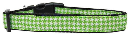 Lime Green Houndstooth Nylon Dog-DOGS-Bella's PetStor