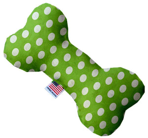 Lime Green Swiss Dots Inch Bone Dog Toy-Christmas, Hannakuh-Bella's PetStor