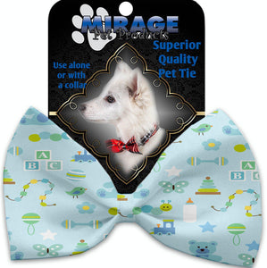 Little Boy Blue Pet Bow Tie Collar Accessory With Velcro-Bow Ties-Bella's PetStor