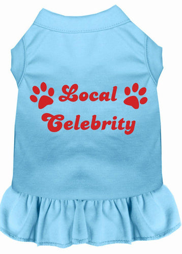 Local Celebrity Screen Print Dress Baby Blue-Dog Clothing-Bella's PetStor