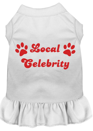 Local Celebrity Screen Print Dress White-Dog Clothing-Bella's PetStor