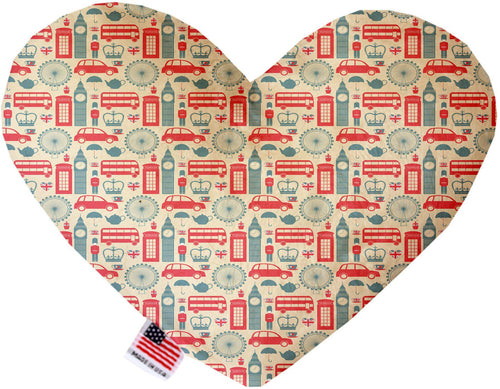 London Love Inch Canvas Heart Dog Toy-Made in the USA-Bella's PetStor