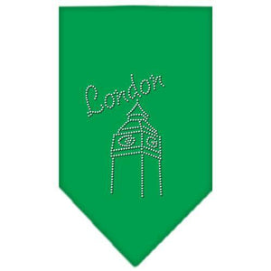 London Rhinestone Bandana Emerald Green Small-London rhinestone bandana-Bella's PetStor