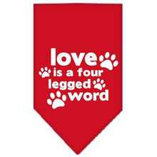Load image into Gallery viewer, Love Is A Four Leg Word Screen Print Bandana-Dog Clothing-Bella's PetStor